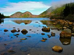 The Bubbles and Jordan Pond,Acadia NP, Maine. July 2012.