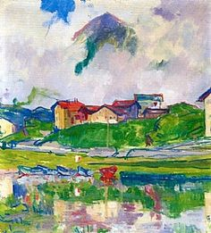 Giovanni Giacometti (Swiss, - MALOJA - oil on canvas, 41 x 37 cm Alberto Giacometti, Giovanni Giacometti, Ferdinand, Abstract Landscape, Landscape Paintings, Oil Paintings, Artist Painting, Painting & Drawing, Fauvism