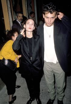 How they were so in sync with each other, they scratched their heads at the same time. | 21 Reasons Johnny Depp And Winona Ryder Should Get Back Together