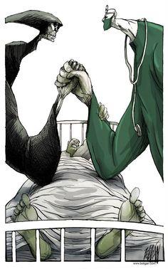 DUELO EN EL HOSPITAL