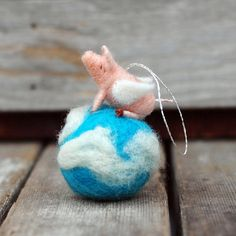 When Pigs Fly Flying Piglet in the Sky by BossysFeltworks on Etsy