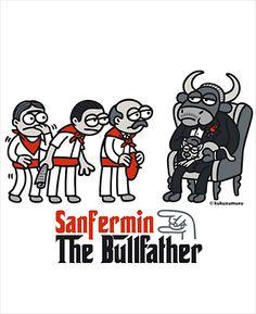 Sanfermin, The Bullfather Kukuxumusu T-shirt
