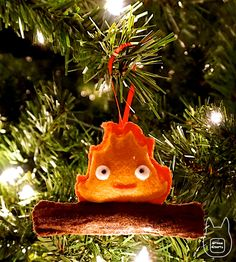 Ghibli-Collector | studioofmm:   Calcifer Ornament  Learn how to make...