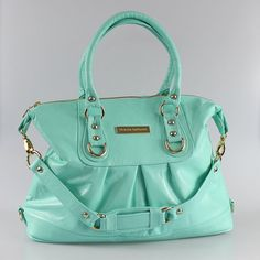 Alexa Mint Leather Bag this is like my favorite color right now for EVERYTHING
