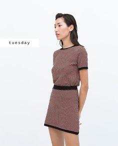 #zaradaily #tuesday #woman #knitwear #skirt