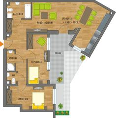 Rzut mieszkania 100 M2, Floor Plans, Floor Plan Drawing, House Floor Plans