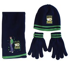 2-Pack Stripe Small Spotted Zebra Boys Kids Hat Scarf Mittens Gloves Cold Weather Accessories Sets