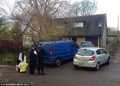 Vicar, 64, and his daughter, 28, are both arrested on suspicion of murder and sex offences after her baby boy was found dead: pic: Officers at the vicarage today. A spokesman for Lancashire Police said: 'When police attended, the body of a newly-born baby boy was discovered at the address and an investigation was launched'