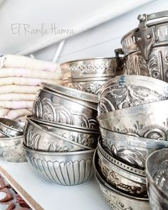 Beautiful hammam bowls handmade.