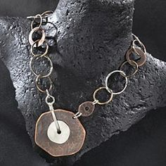 I love her jewelry.....her designs are worn on the actresses on Cedar CoveKaryn Chopik's Silver  Copper Necklace