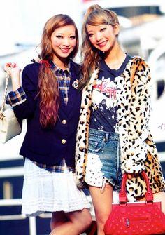 Ami Aya Amiaya fashion japanese models vivi magazine hair color dye smile cute
