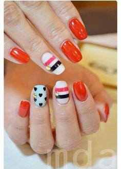 Kate Spade inspired nails ♠︎