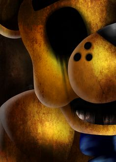 FNAF 1 Golden Freddy there's a fifth on deviantart Fnaf Golden Freddy, Freddy 's, Five Nights At Freddy's, The Marionette, Scary Games, Fnaf Sister Location, Fnaf 1, Creepy Pictures, Freddy Fazbear