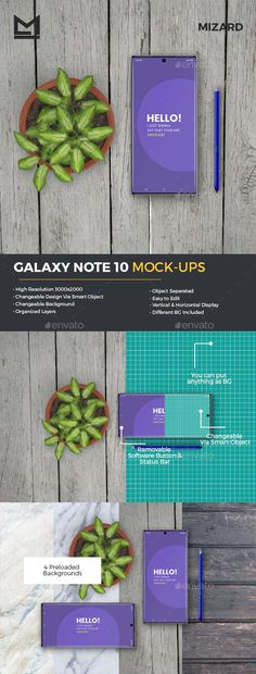 This is Galaxy Note 10 Mockups . This item consists 3 PSD files. With this mockup set you can present your Play Store Android APP/UI/UX design with photo realistic appearance. Box Mockup, Mockup Templates, Print Templates, Graphic Design Templates, App Ui, Ui Ux Design, Galaxy Note 10, User Interface, Presentation Templates