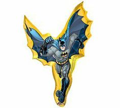 39 Inch Large Batman Action Shape Balloon - Each by Anagram. Save 48 Off!. $4.70. Batman has always been and always will be a hero that kids can look up to. Having a Batman party will be fun to plan, expecially with all of our Batman supplies and favors. This Batman Action 27in x 39in SuperShape Foil Character Balloon is perfect for