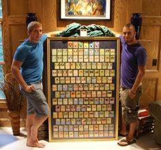Awesome way to display trading cards.