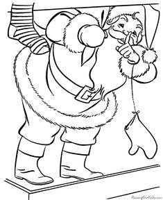 Free Printable Santa Coloring Pictures!