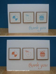 teacher thank you cards using dingbats for stamped images