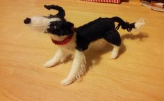 Knitted border collie by the lovely Lisa Lyons