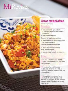 Receta arroz mamposteao