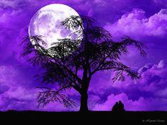 violet full moon