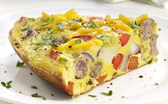 Frittatas are a great way to switch up breakfast. They're packed with flavor and can fill up a family of six.