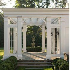 Beautiful outdoor room created by @doylehermandesignassociates #landscapedesign #landscapearchitecture #architecturaldesign #elegant…