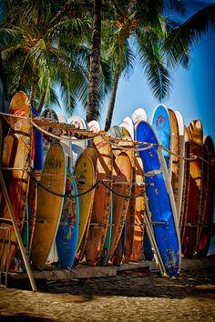 Surfboards @ Waikiki Beach, Hawaii