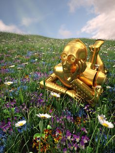 Star Wars on Vacation Art Prints - C-3PO