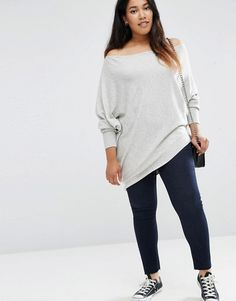 Shop the latest ASOS CURVE Asymmetric Sweater trends with ASOS! Free delivery and returns (Ts&Cs apply), order today! Travel Outfit Summer, Casual Summer Outfits, Plus Zise, Asymmetrical Sweater, Asos Curve, Curvy Outfits, Casual Sweaters, Traveling Outfits, Tunic Tops