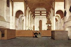 SAENREDAM, Pieter Jansz Interior of the Church of St Odulphus, Assendelft 1649 Oil on panel, 50 x 76 cm Rijksmuseum, Amsterdam One Point Perspective, Perspective Drawing, Church Sermon, Perspective Photography, Dutch Golden Age, Church Interior, Dutch Painters, Art Archive, High Art
