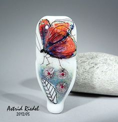 totally LOVE this!!    Madam Butterfly Lampwork  free shape focal bead by AstridRiedel, $95.00