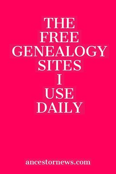 Free genealogy is alive and well The 13 free sites I've used for years to do my genealogy research. Free genealogy is alive and well The 13 free sites I've used for years to do my genealogy research. Free Genealogy Records, Free Genealogy Sites, Genealogy Forms, Genealogy Chart, Genealogy Research, Family Genealogy, Ancestry Websites, Ancestry Free, Free Ancestry Search
