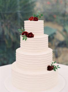 Photography: Lacie Hansen - laciehansen.com Cake: San Ysidro Ranch - http://www.sanysidroranch.com/   Read More on SMP: http://www.stylemepretty.com/2016/04/25/calligraphy-cocktails-perfect-garden-setting-a-summer-wedding-dream/