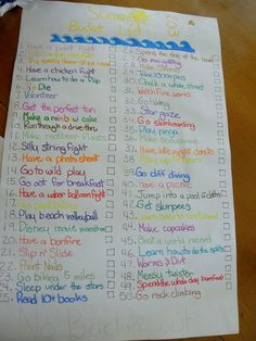 bucket list for bff | best friend got together to create their summer bucket list