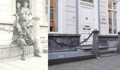 Ghosts of War - Paratrooper rests, September 18th 1944, No. 11 Ten Hage Straat Eindhoven - Then & Now by juffrouwjo, via Flickr