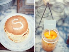 A Wedding Inspired by (500) Days of Summer: Part 2 Dessert Bar Wedding, Wedding Breakfast, Wedding Desserts, Dessert Bars, Pancake Bar, Breakfast Pancakes, Pancakes And Waffles, Breakfast Recipes, 500 Days Of Summer