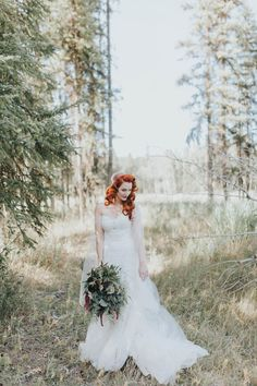 Off-the-shoulder wedding dress + vintage bridal hair and makeup | Image by Portraits By Lucy