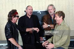 Keith Richards with Pete Townshend John Entwistle and Roger Daltrey of The Who