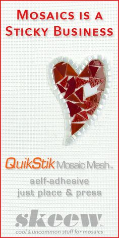 Save steps and cleanup with this mesh! Watch how at http://www.skeew.biz/products-mosaics/quikstik-mosaic-mesh.html?utm_content=buffer696fa&utm_medium=social&utm_source=pinterest.com&utm_campaign=buffer