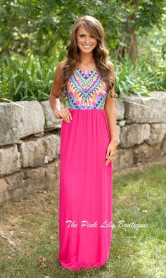 The Pink Lily Boutique - Dream On Maxi Pink CLEARANCE!!, $20.00 (http://thepinklilyboutique.com/dream-on-maxi-pink-clearance/)
