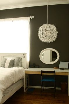 Must. Have. Dandilion... I love this for my bedroom. IKEA maskros pendant light.