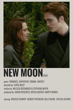 Twilight New Moon, Twilight Movie, Twilight Saga, Iconic Movie Posters, Iconic Movies, Good Movies, Robert Pattinson Twilight, Movie Songs, Film Movie