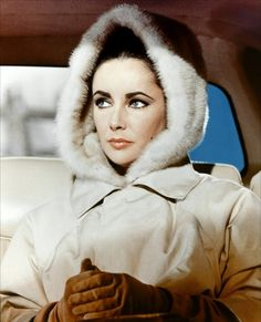 Elizabeth Taylor is bundled up in The V.I.P.s.