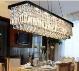 http://ift.tt/1R0QyWc Siljoy L39.5 X W10 X H10 Rectangle Clear K9 Crystal Ceiling Light Fixture Modern Lighting