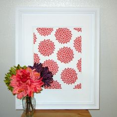 This is pretty. I could make something similar by framing scrapbook paper.