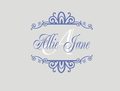 Girl Name Scroll Wall Decal  Personalized by LCvinyldesigns, $19.00