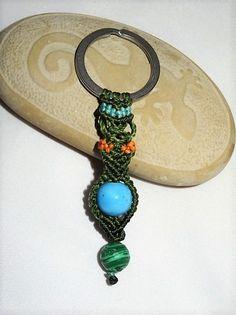Schlüsselanhänger - Schlüsselanhänger Malachit - ein Designerstück von Sunnseitn bei DaWanda