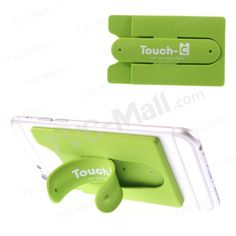One touch silicone phone stand and card holder