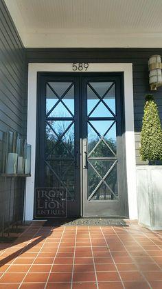 House Front Door, House Entrance, Entrance Doors, Porch Doors, Door Entryway, Foyer, Exterior Remodel, Exterior Doors, Double Front Doors